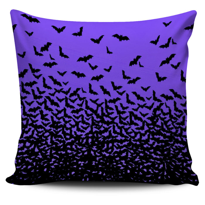 Halloween Bats Throw Pillow Cover