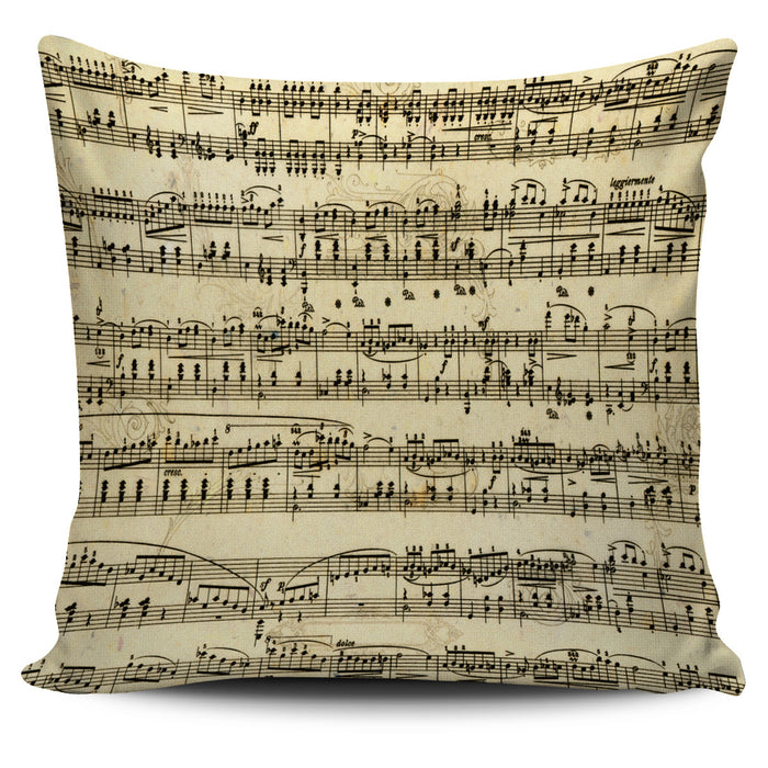 Sheet Music Throw Pillow Cover