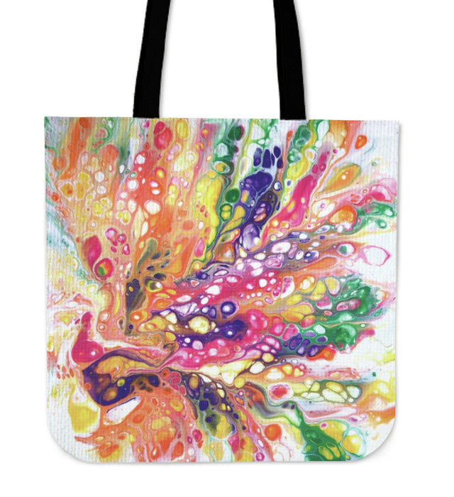 July 2019 Acrylic Pour - Color Explosion Tote Bag