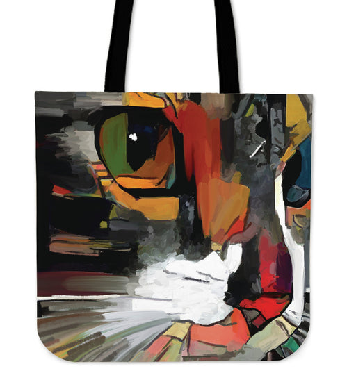 Abstract Cat #1 Women's Large Tote Bags | Beach Bag Tote | Large Tote Bags | Canvas Shopping Bags | Totes |