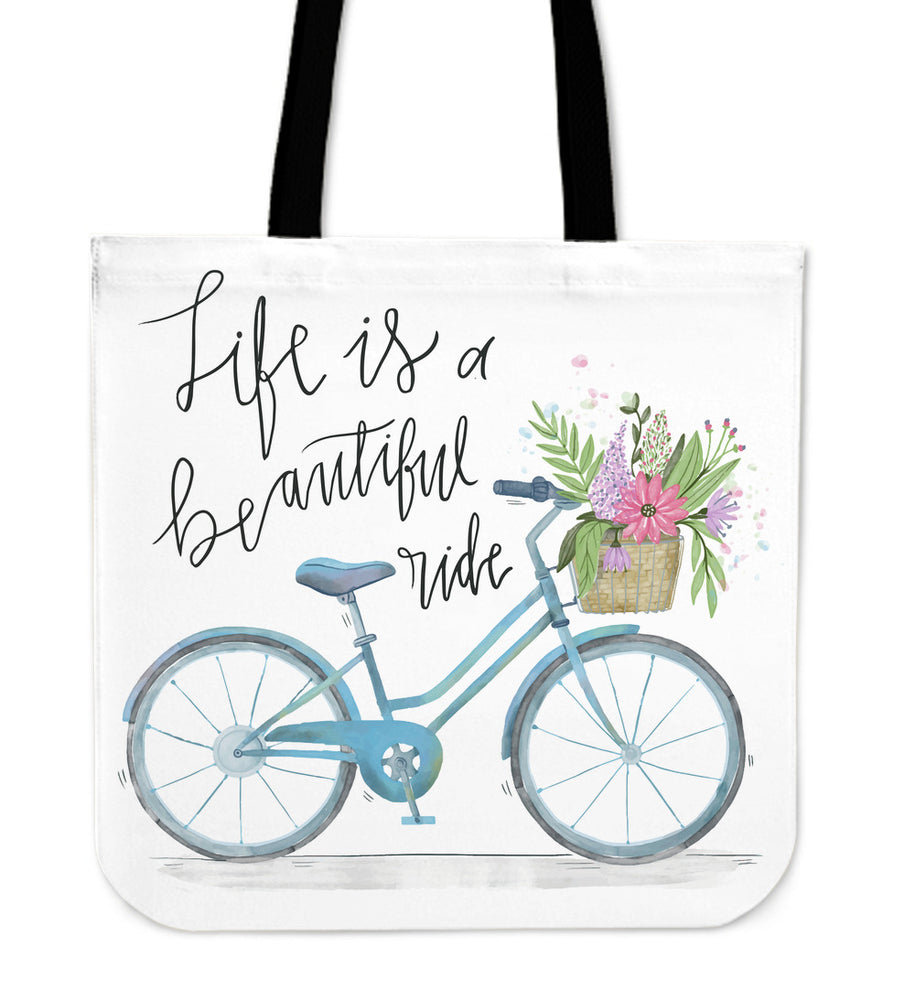 """Life is a Beautiful Ride"" Bicycle Tote Bag"