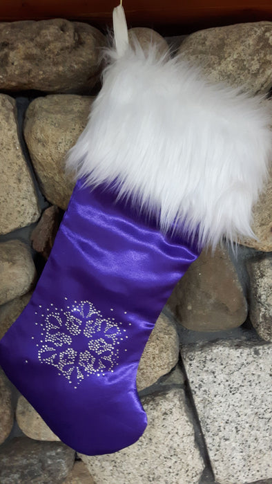 Royal Luxe Purple Christmas Stocking - Wholesale