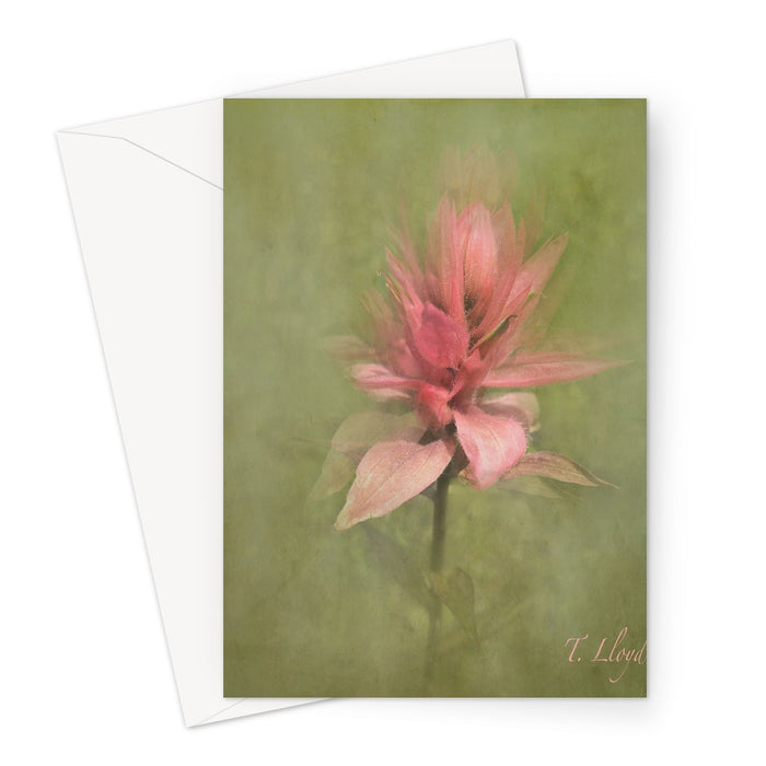 Dancing Paint Brush Greeting Card
