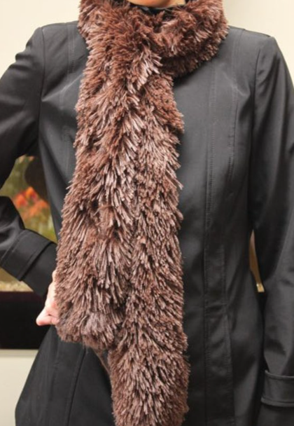 Brown Ultra Plush Scarf - Wholesale