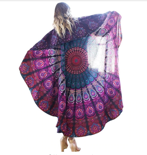 Multi-purpose Bohemian Throw, Sarong, Wall Hanging, Beach Throw or Window Covering
