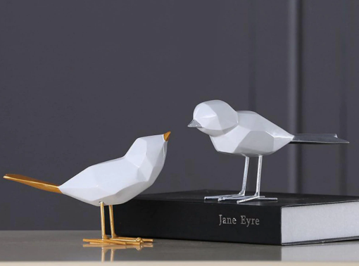 Abstract, Nordic-Style, Contemporary Bird Sculptures