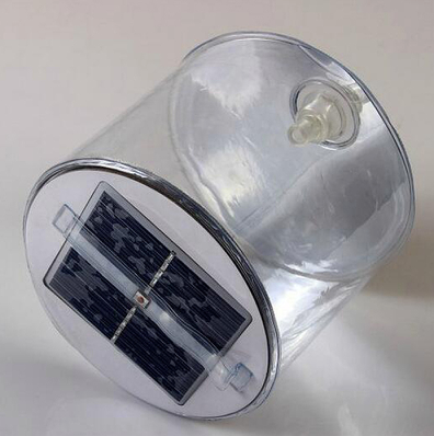 LED Solar Powered, Inflatable, Portable Lamp