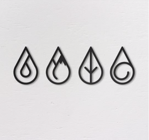 Four Elements - Metal Wall Art