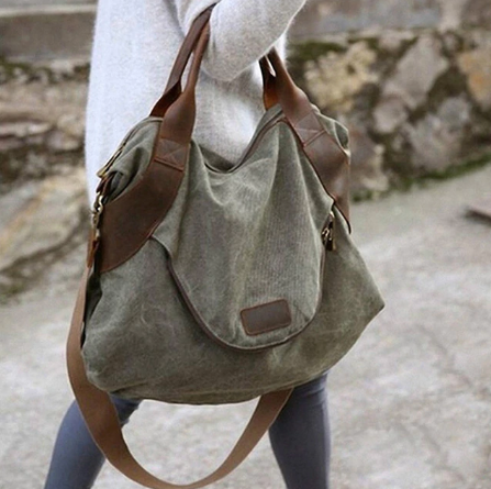 Women's Casual, Canvas Hobo Bag
