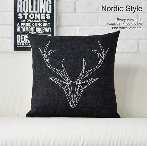 Nordic Deer Cushion Cover