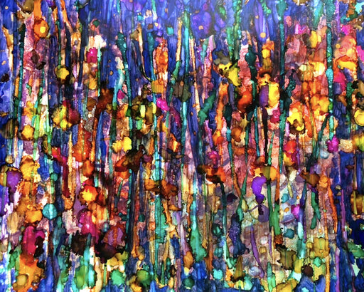 Abstract Forest Alcohol Art Prints