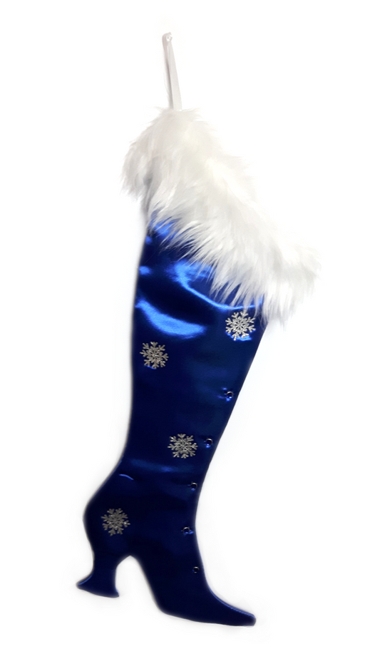 The Blue Sapphire Victorian Christmas Stocking - Wholesale