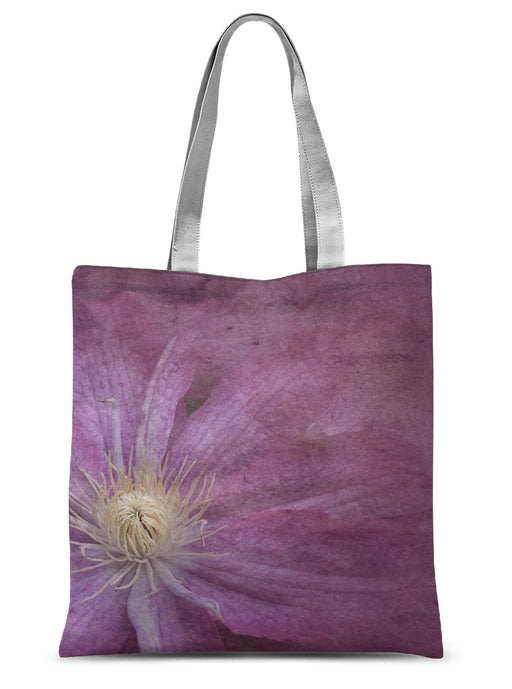 Purple Clematis Sublimation Tote Bag