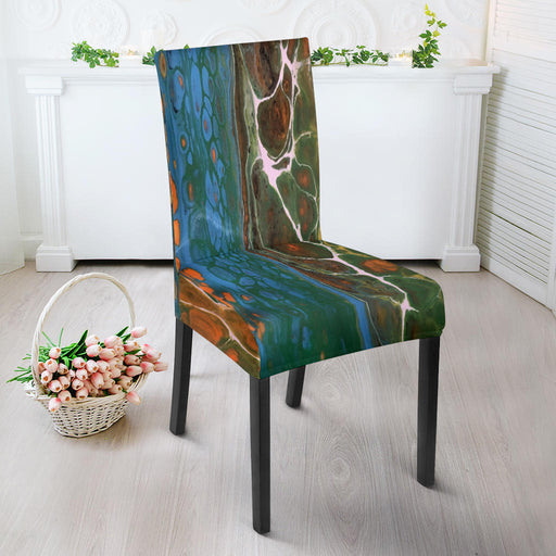 Artisan-Designed, Abstract Art Chair Slip Covers