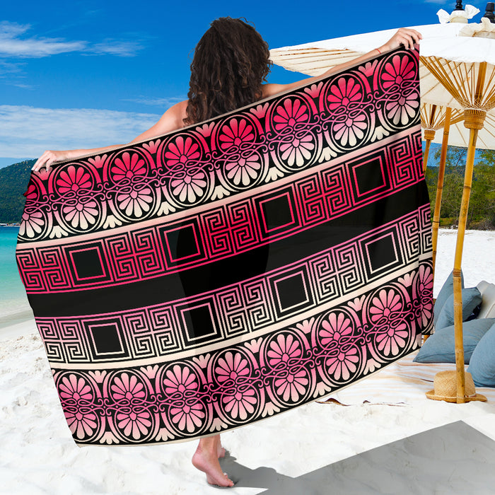 Sarong Pink & White Gradient - Beautiful, Sexy Summer Beach Coverup
