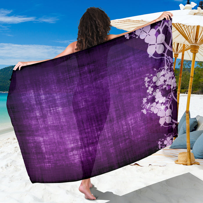 Purple Clover Sarong - Beautiful Summer Beach Coverup