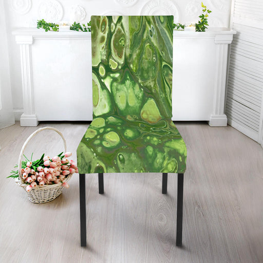 Spring Green, Artisan-Designed, Abstract Art Chair Slip Covers