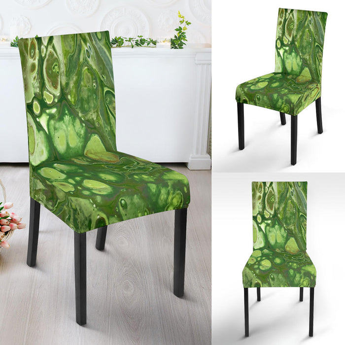 Spring Green, Artisan-Designed, Abstract Art, Dining Chair Slipcovers