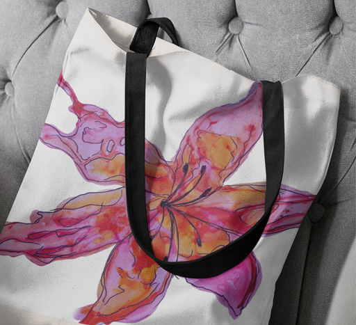 Sunset Lily Tote Bag - Fuchsia