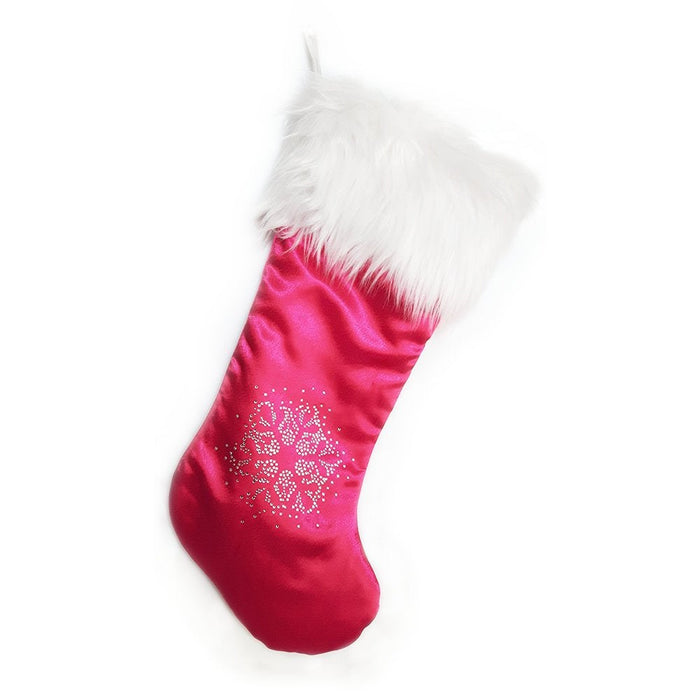 Luxury Christmas Stocking, Satin Christmas Stocking, Royal Luxe Pink Christmas Stocking