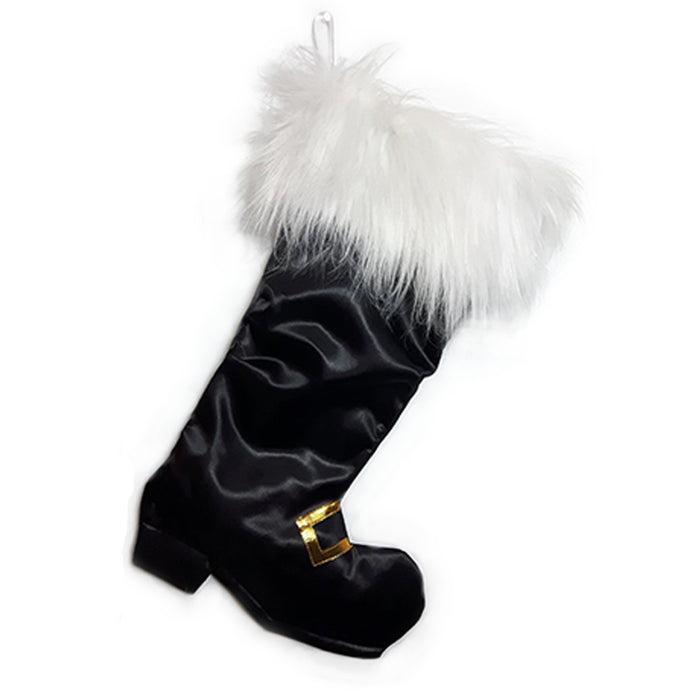 Luxury Christmas Stocking, Satin Christmas Stocking, Luxe Santa Boot