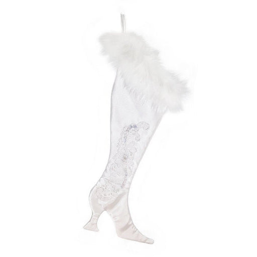 Upcycled, Limited Edition White Wedding, Luxury Victorian Christmas Stocking