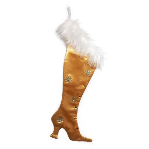 Precious Gems - Gold Topaz  Victorian Christmas Stocking, High-heel Christmas Stocking, Xmas Stocking