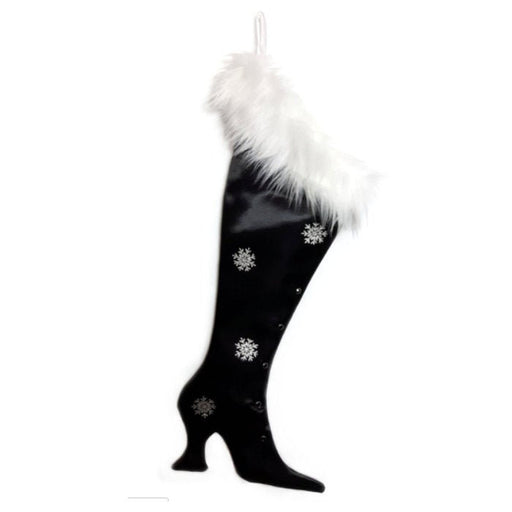 Luxury Christmas Stocking, Satin Christmas Stocking, Precious Gems - Black Onyx  Victorian Christmas Stocking
