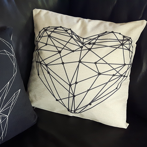 Nordic Heart Cushion Cover
