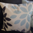 Turquoise Throw Pillow Cover - Petals