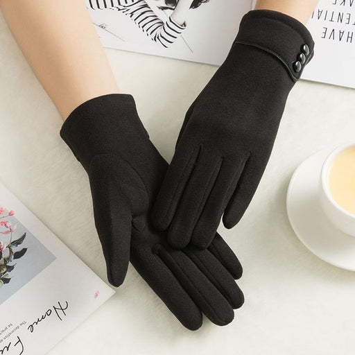 Elegant Women's Touchscreen-Friendly Gloves