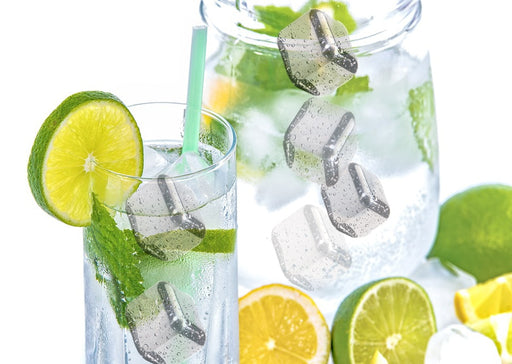 Stainless Steel Ice Cubes - Reusable Chilling Stones.  Keep Your Drink Colder, Longer
