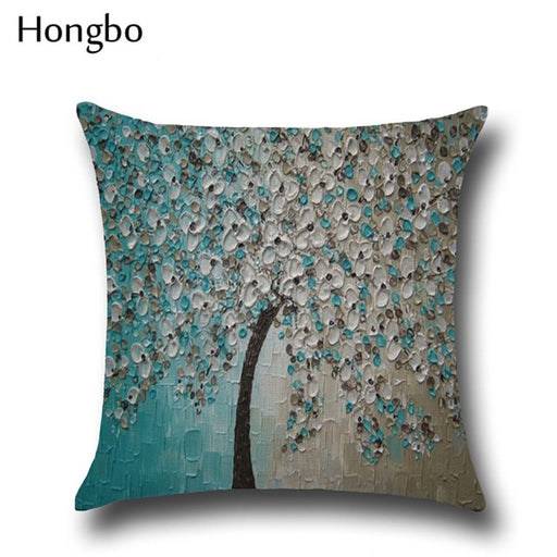 Flower Pillow Cover; Floral Decor;
