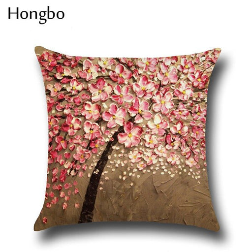 3D Art Blossoms Flower Pillow Cover - Variety of Patterns