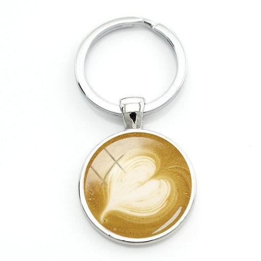 Unique Coffee Latte Keyring