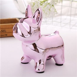 Whimsical, Modern Ceramic Bulldog Piggy Bank