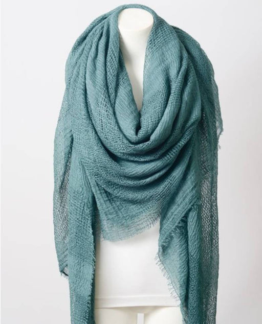 Perfect Square Teal Blanket Scarf
