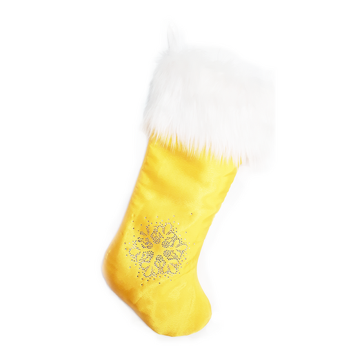 Royal Luxe Yellow Christmas Stocking - Wholesale