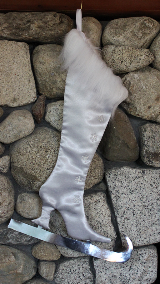 The White Victorian Christmas Skate Stocking