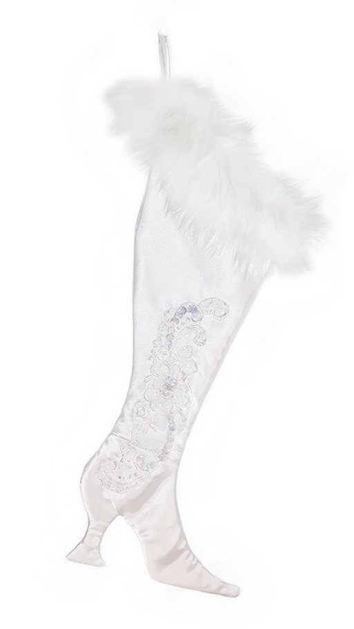 The Upcycled Wedding Dress Victorian Christmas Stocking - Limited Edition