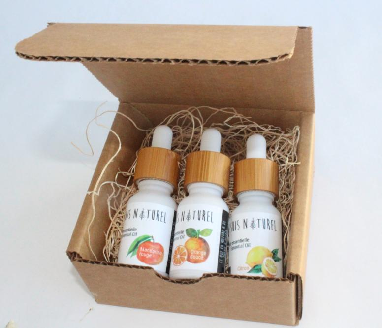 Coffret trio d'agrumes (Mandarine rouge, Orange et Citron)