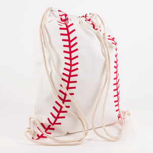 Kid's Baseball Drawstring Backpack