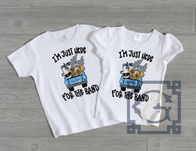 I'm Here for the Band Kid's Tee - Helena Huskies