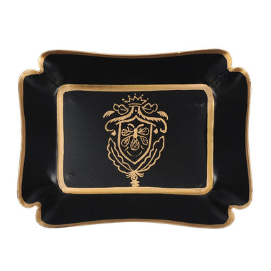 Black and Gold Heritage Bee Trinket Tray