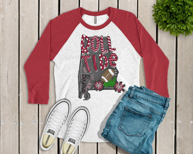 Roll Tide Red Raglan