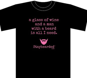 "Staybearded® T-shirts (Ladies)  ""all I need"" T-shirt"""