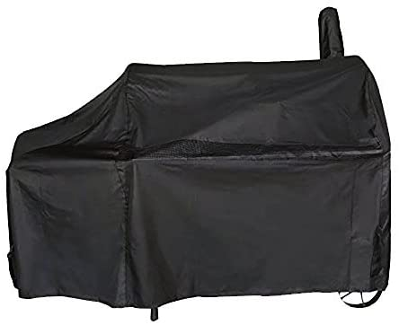 iCOVER Offset Smoker Cover 60 inch Charcoal Pellet Grill Cover Heavy Duty Waterproof 600D BBQ Smoker Cover