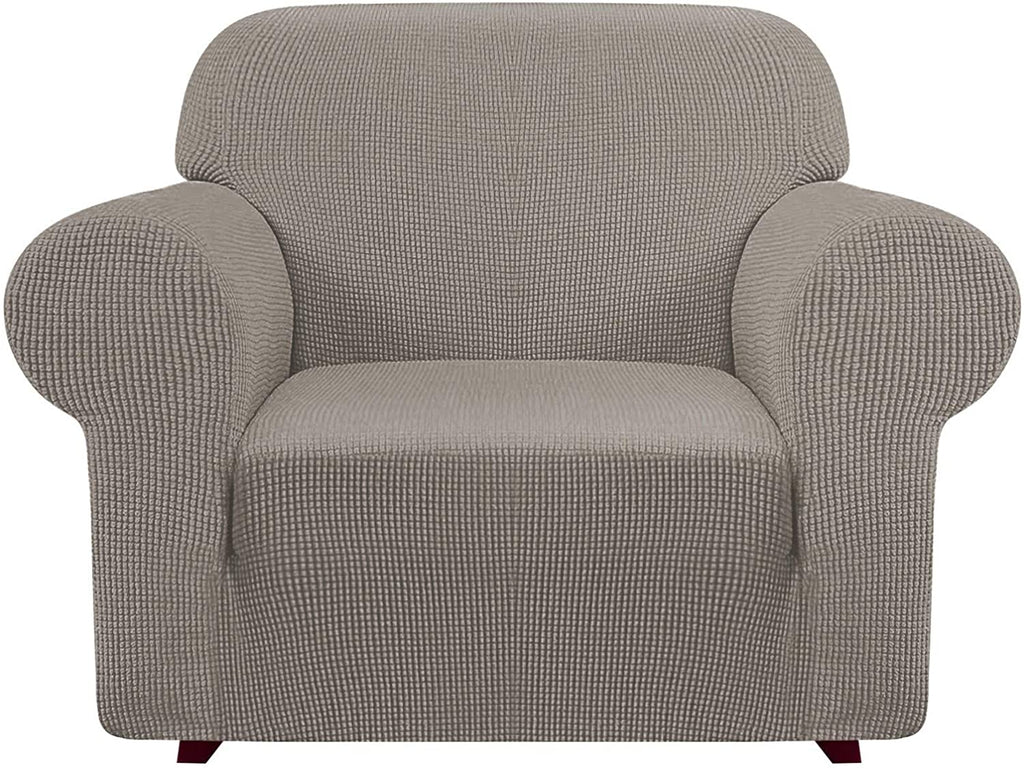 iCOVER Armchair Sofa Slipcover, One Piece High Stretch Couch Cover, Machine Washable Spandex Jacquard Fabric