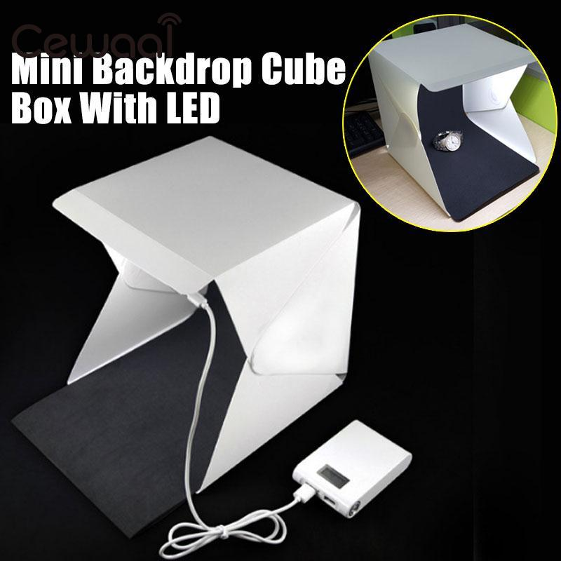 Cewaal Portable Folding Lightbox Photography Studio Softbox LED Light Soft Box for DSLR Camera Photo Background Wholsale - Cadeau Me