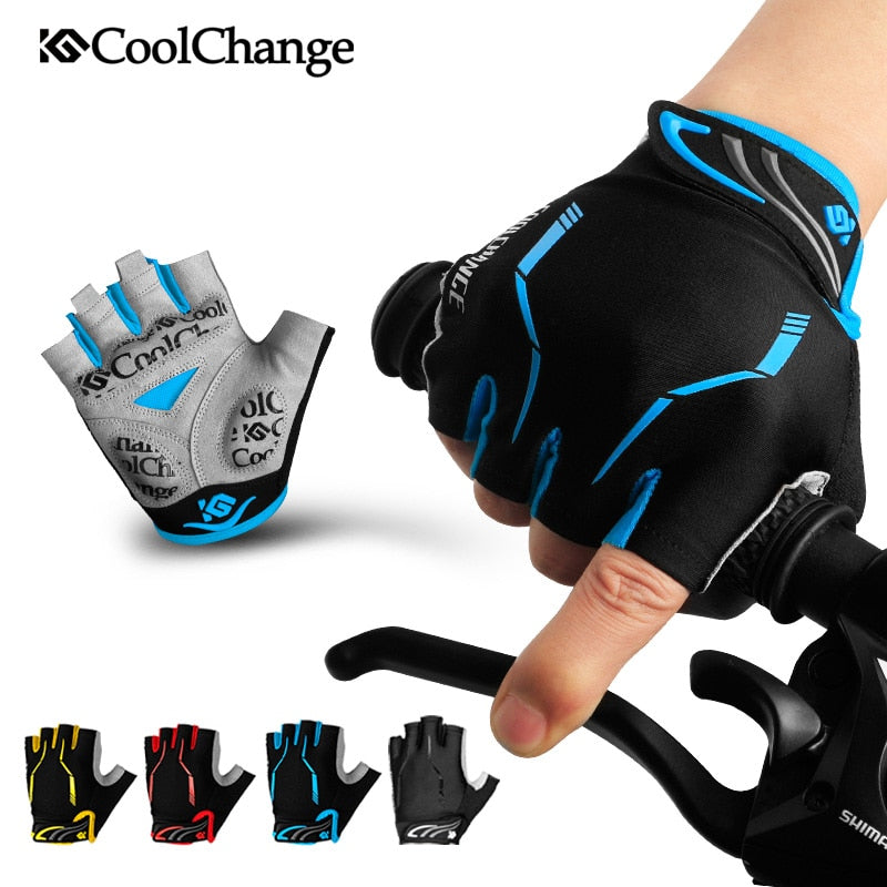 CoolChange Cycling Gloves Half Finger Mens Women/'s Summer Sports Shockproof